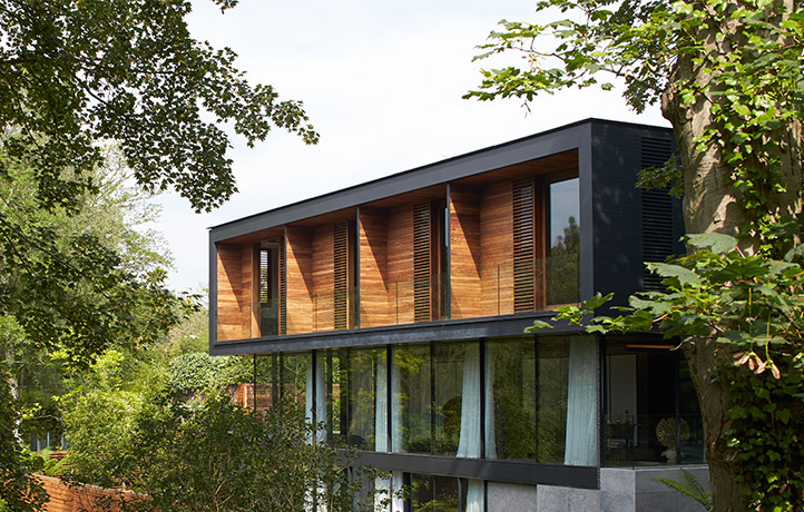 Grand designs house in london park